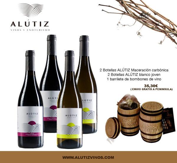 estuche de navidad personalizado vino